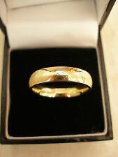 18 CARAT YELLOW GOLD 5MM HEAVY COURT SHAPE WEDDING RING BRAND NEW IN BOX