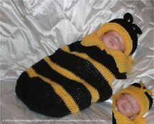 "Crochet pattern Baby/Reborn Cocoon/2Hats Unisex ""Bee"",MPN CRO102 Frandor Formats"
