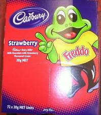 Cadbury Strawberry Freddos 72 x 15 gm boxed  bought to order