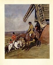Fox Hunting, Sportmen Hunters Looking For The Fox Hounds, Horses, Color Print