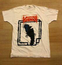 VTG 80s Voivod T Shirt Nothing Face Kreator Gildan Short Sleeve Shirt DF268