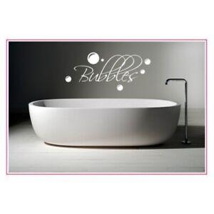 BUBBLES BATHROOM WALL STICKER ART DECALS QUOTE