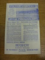 23/02/1946 Stockport County v Tranmere Rovers [Division 3 North West Cup] (folde