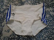 """RARE ADIDAS ATHLETIC RUNNING COTTON SHORTS TRIFOIL 80 WOMANS GERMANY NEW 28"""" VTG"""