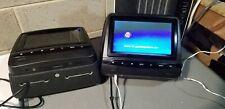 "SONIC 2X7"" Digital LCD Screen CAR Headrest DVD Player Pillow Monitor, HR7A BLACK"