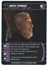 Star Wars TCG Rare Unleashed Promo Card Dooku Tyranus B