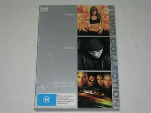 Honey + 8 Mile + The Fast And The Furious - Region 4 - VGC - DVD