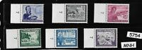 #5754 Full Stamp set / MNH Third Reich WWII / Linden Leaves / Germany Occupation