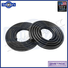 62-66 Mopar A & B Body Door Weatherstrip Seals 2 Door Sedan Black Metro