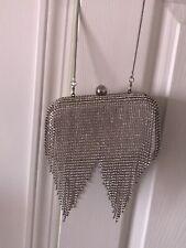 guess marciano Rhinestone Clutch Bag Silver