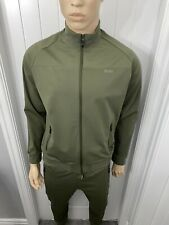 Hugo Boss Kahki Tracksuit Zipped Jacket & Pant Mens Medium £288 Bargain £109