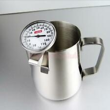 Milk Coffee Pitcher Latte Espresso Frothing Scale Thermometer Jug 900ml Set