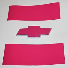 Hot Pink Vinyl Sheets-2- U-Cut Decal for Chevy Bowtie Emblems Grill & Rear