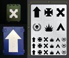 veicolo Squad AEROGRAFO STENCIL TERRAIN veicolo Stencil mascheramento FALLOUT