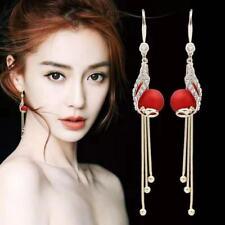 Fashion Crystal Long Tassel Earrings Drop Dangle Ear Stud Hook Women Hot Jewelry