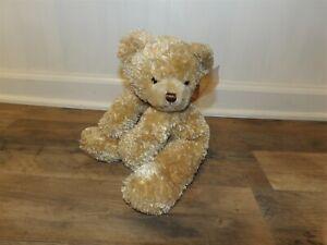 Adorable HTF 2003 Princess Soft Toys Plush Brown FLOPPY BEAR w/ Ribbon (*72)