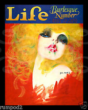 Life Magazine cover/Vintage Reproduction/Poster/Print/Burlesque Number/ 1928