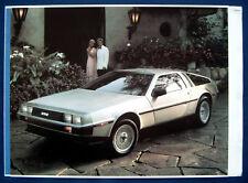 Prospekt brochure Original 1981 DeLorean (USA)  NOS