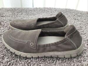 Josef Seibel Steffi 57 Grey Elasticated Shoes Size 39 6 Grey Moccasins Slip On