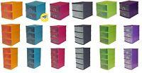 A5 Plastic Handi Storage Drawer Unit 2,3,4 Tier desk Store Cabinet Box Tidy Rack