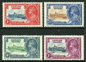 British 1935 KGV Silver Jubilee Falkland Is Scott #77-80 Mint Non Hinged Y102