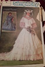 Simplicity Sewing Pattern 6765 Bridal Bridesmaid Gown Uncut 1984 Size 6