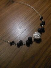 Neu schwarz Polariskette Halskette Collier Polarisperlen Polaris kette Wickel