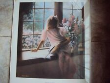 Offset Lithograph by Kevin Daniel--girl with violin