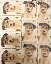 1990 Australian $.43 Stamps Little Dog - Approx. 500 Canceled Stamps