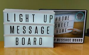 Fizz Creations Large Light Up Message Board inc 72 Letters/ Numbers etc