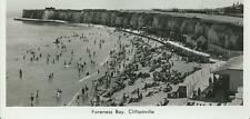 Black/White Real Photo Postcard of Foreness Bay, Cliftonville