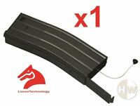 AIRSOFT MIKE4 METAL BLACK LONEX FLASH MAGAZINE MAG 360RDS ASG PULL CORD