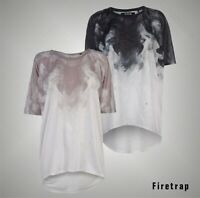 Ladies Firetrap Lightweight All Over Print Lucy T Shirt Loose Fit Top Sizes 8-18