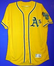 OAKLAND ATHLETICS #23 SAM FULD GOLD AUTHENTIC A'S BUTTON-DOWN JERSEY