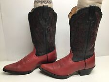 VTG WOMENS ARIAT SNIP TOE COWBOY RED BOOTS SIZE 7 B