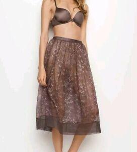 Victoria Secret Floral Lace Mesh Skirt Medium *NWT*