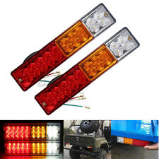 2Pcs 20 LED Trailer ATV Truck Rear Brake Reverse Tail Light Bright Turn Signal
