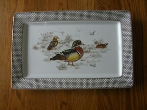 Williams Sonoma Plymouth Gate Duck Rectangular Platter-Fall,Up North,Thanksgivin
