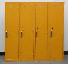 """Used Yellow Kids School Metal Lockers 48""""W X 12""""D X 48""""H"""