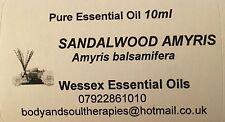Sandalwood Amyris essential oil 10ml bottle