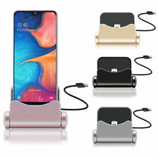 360 MICRO USB Dock Charger Station Desktop Charging Stand For SAMSUNG A10/S7/S6