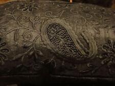 Ralph Lauren New Bohemian Black French Embroidered Black Decorative Pillow New