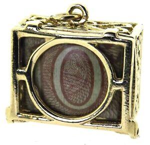 9Carat 9ct yellow gold mad money box charm original 10 shilling banknote