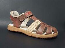 New $80 KICKERS Platinium Kids Boys LEATHER Fashion Sandals Size 13 USA/31 EURO