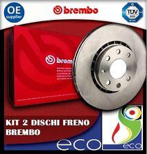 2 DISCHI FRENO POSTERIORE BREMBO SEAT IBIZA 3 1.8 T 20V CUPRA KW:115 2000/>2002 0