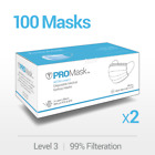 10/50/100 PROMask Disposable Face Masks Medical Surgical Dental 3-Ply Earloop