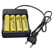4pcs 18650 Batería 9800mAh 3.7V Li-ion Recargable Battery and 4.2V EU Cargadores