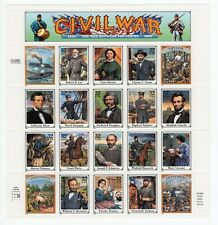 Us Stamps 1995 #2975 Civil War 32c Entire Sheet of 20 Mnh