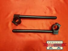 CAFE RACER 33mm CLIP ON HANDLEBAR SATIN BLACK CNC ALLOY *NEW* FREE DELIVERY