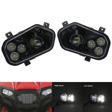 For POLARIS RZR 800 LED CONVERSION RZR 900 XP RZR 570 LED HEADLIGHTS KIT BLACK